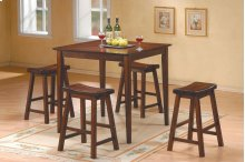 5-Piece Pack Counter Height Set, Warm Cherry