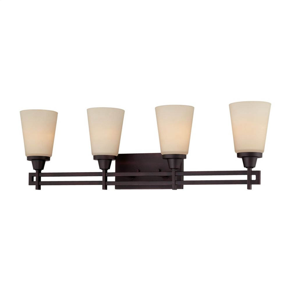 Wright 4-Light Wall Lamp in Espresso