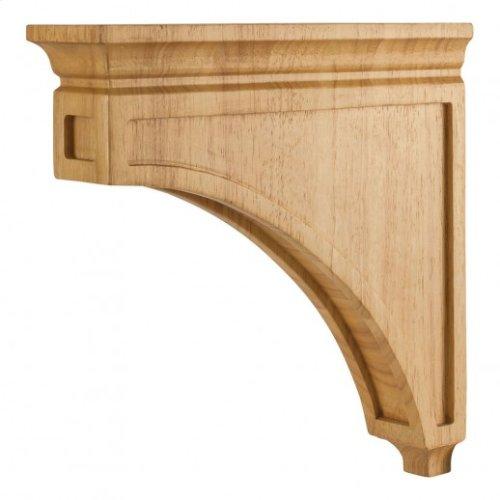"3"" x 12"" x 12"" Mission Style Wood Bar Bracket Corbel, Species: Hard Maple"