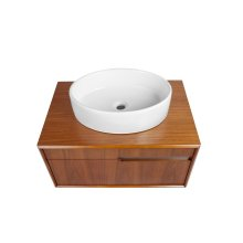 Cityscape Wallmount Vanity - Medium Walnut