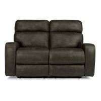 Tomkins Fabric Power Reclining Loveseat with Power Headrests Product Image