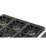 "FULGOR MILANO36"" Black Cast Iron - Island Trim"