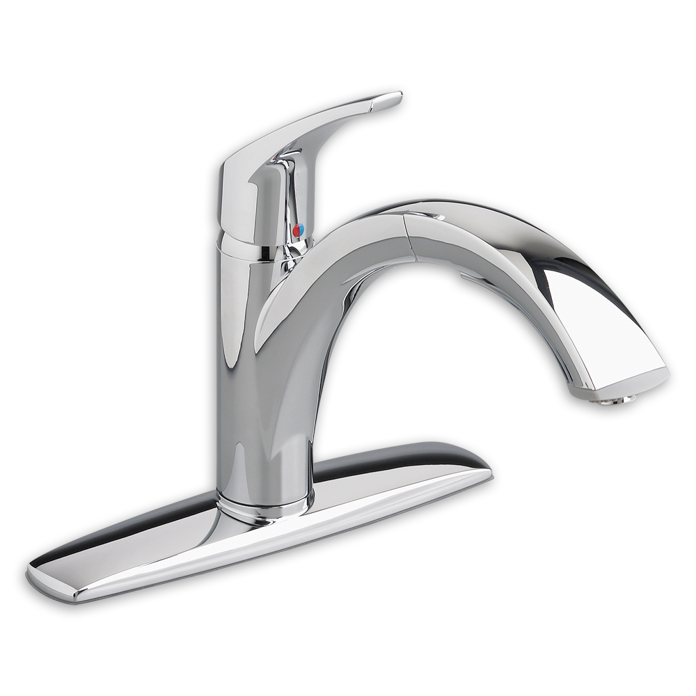 Arch Single Handle Pull Out Kitchen Faucet American Standard   Polished  Chrome