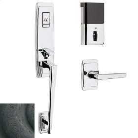Distressed Oil-Rubbed Bronze Evolved Palm Springs 3/4 Escutcheon Handleset
