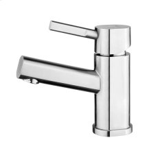 Waterhaus lead-free, solid stainless steel, single-hole, and single lever lavatory faucet with solid stainless steel pop-up drain.