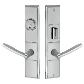 Polished Chrome Houston Escutcheon Entrance Set