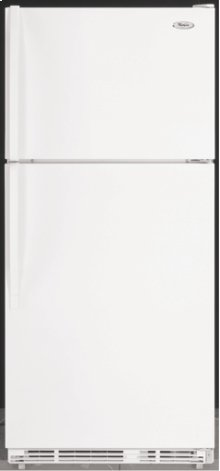 White-on-White 21.0 cu. ft. Top Mount Refrigerator ENERGY STAR® Qualified