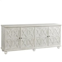 Madison - 74-inch TV Console - Rustic White Finish