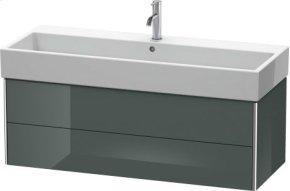 Vanity Unit Wall-mounted, Dolomiti Gray High Gloss Lacquer
