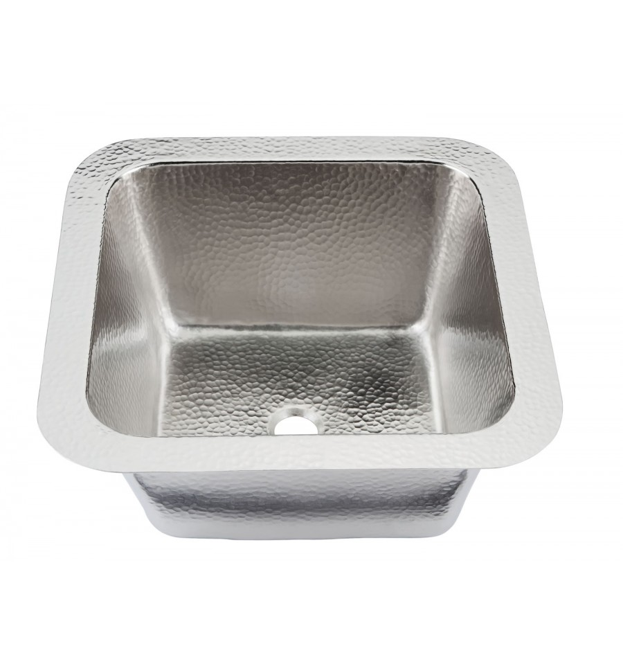 Superieur Hammered Nickel Picasso Bar/Prep Sink