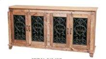4 Door Buffet W/Iron Doors