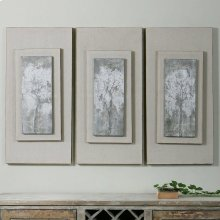 Triptych Trees Hand Painted Canvases, S/3