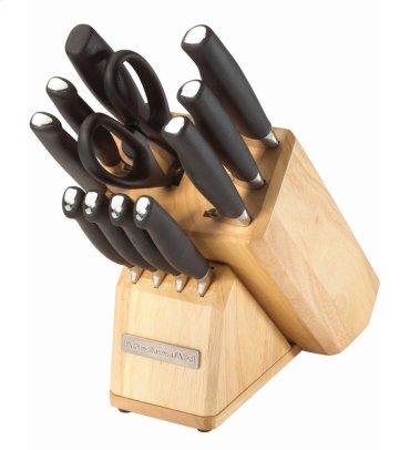12 Piece Fine Edge Forged Soft Handle Cutlery Set - Black
