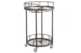 "Round Serving Cart Base for 20"" Marble Mosaic Table Tops"