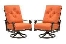 Emerald Home Chatham II Swivel Rocker Lounge Chair Sunbrella Cayenne Ou1062-06-05
