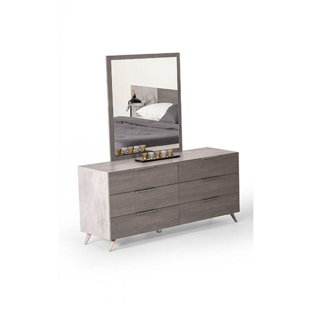 Nova Domus Bronx Italian Modern Grey Mirror