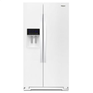36-inch Wide Side-by-Side Refrigerator - 28 cu. ft. - WHITE