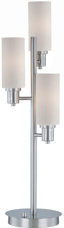 3-lite Table Lamp, Ps/frost Glass Shade, E12 Type B 40wx3