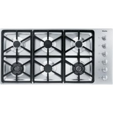 KM 3484 G Gas cooktop with 2 dual wok burners for particularly versatile cooking convenience.
