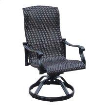 Emerald Home Versailles Wicker Swivel Rocker Dining Chair Onyx Od1045-28