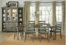 Rectangular Dining Table - Putty/Oak Finish