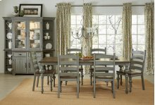 Rectangular Dining Table - Putty/Oak Finish