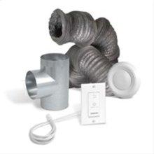Optional bathroom installation kit for air exchangers HRV 5.1 or HRV 7.1 HEPA