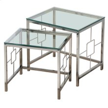 Athena 2Pc Nesting Tables in Chrome