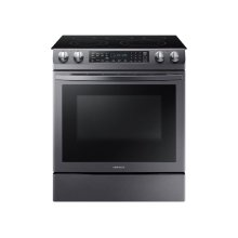 5.8 cu. ft. Slide-In Electric Range in Black Stainless Steel
