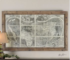 Treasure Map Oil Reproduction