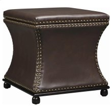 Seward Storage Stool In Brown