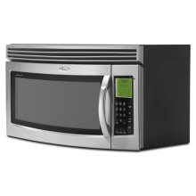 Black-on-Black 1.7 cu. ft. Microwave SpeedCook Oven-Range Hood Combination