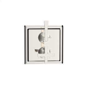 Dual Control Thermostatic With Diverter and Volume Control Valve Trim Leyden Series 14 Polished Nickel 1