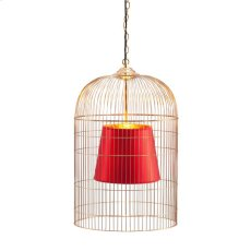 Gold & Red Sprite Ceiling Lamp Large Product Image