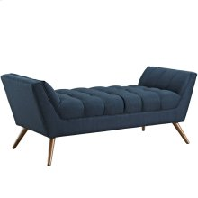 Response Medium Upholstered Fabric Bench in Azure