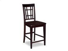 Montego Bay Pub Chairs Set of 2 with Wood Seat in Espresso