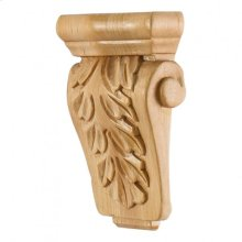 "3-5/8"" x 1-1/2"" x 5-1/2"" Acanthus Corbel, Species: Cherry"