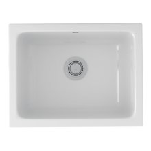 White Allia Fireclay Single Bowl Undermount Kitchen Or Laundry Sink