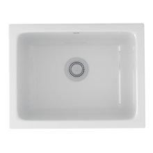 White Allia Fireclay Single Bowl Undermount Kitchen Or Laundry Sink