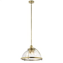 Silberne Collection Silberne 3 Light Pendant in Natural Brass NBR