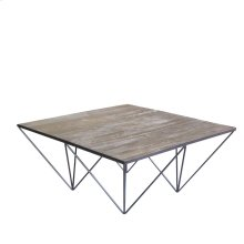 Industrial Whitewash Natural Coffee Table