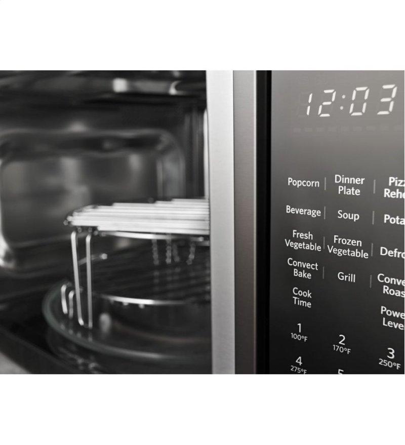 21 3 4 Countertop Convection Microwave Oven With Printshield Finish 1000 Watt