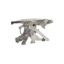 Freeform Console Table, Silver Leaf