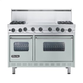 "Sea Glass 48"" Sealed Burner Self-Cleaning Range - VGSC (48"" wide, four burners & 24"" wide griddle/simmer plate)"