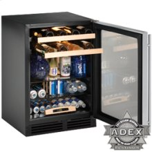 """Solid panel overlay Field reversible 2000 Series / 24"""" Beverage Center / Single Zone Convection Cooling System"""