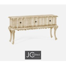 Rectangular Console Table in Limed Acacia with Drawers