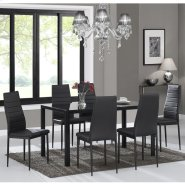 Contra 7pc Dining Set in Black Product Image