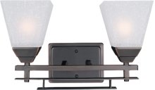 2-lite Wall Lamp,d/bronze W/frost Glass Shade,type A 60wx2