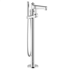 Polished Chrome Wallace (Series 15) Single Supply Floor Tub-Filler