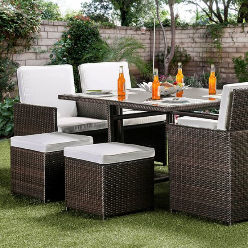 Keisha 9 Pc Patio Dining Set